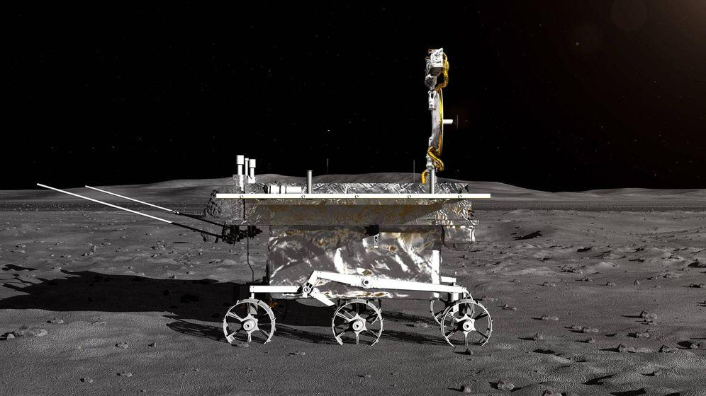Foto: Impresión artística del vehículo lunar de la sonda lunar Chang'e-4. (Administración Nacional Espacial De China)