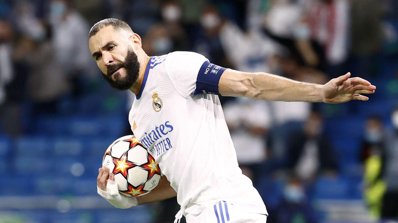 Benzema celebra el empate. (Reuters)