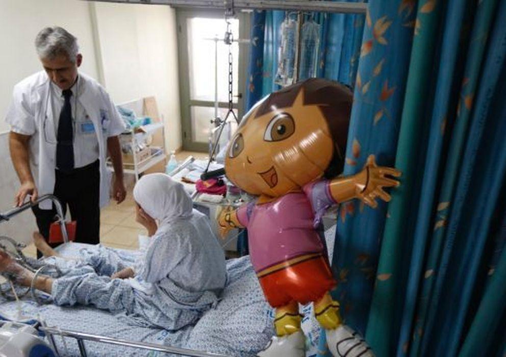 Foto: Una víctima de la guerra de Síria en el hospital Rebecca Sieff. (Reuters)