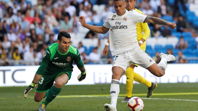 Mariano en el partido contra el Villarreal. (Efe)