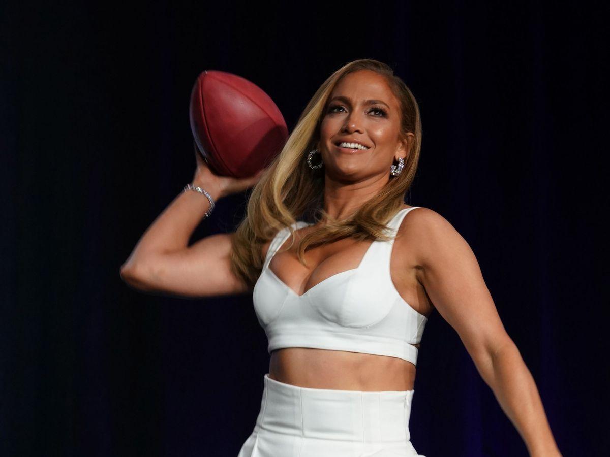 Foto: JLo, durante la Super Bowl 2020. (USA Today Sports)