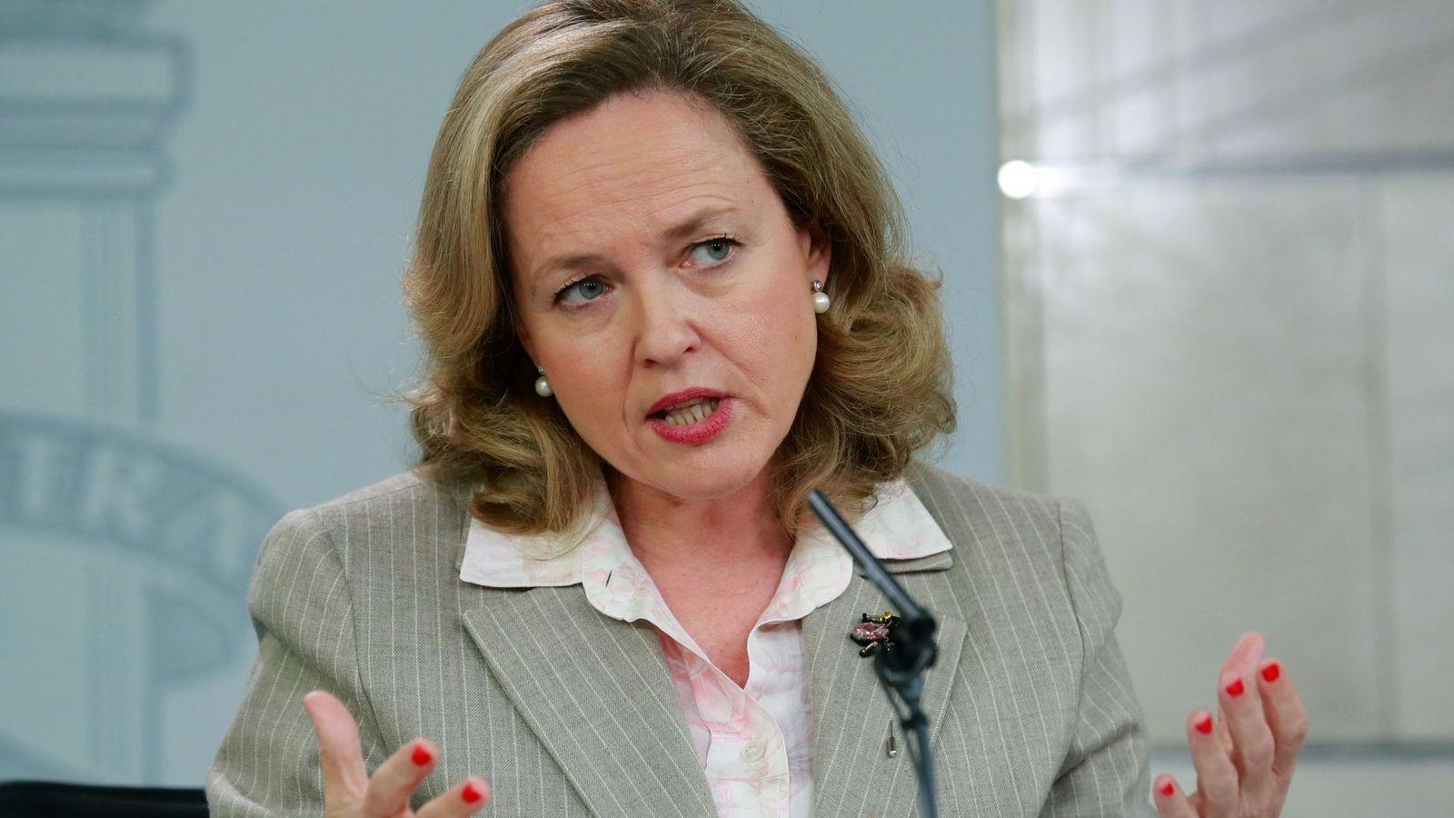 Foto: La ministra de Economía, Nadia Calviño, en La Moncloa. (EFE)