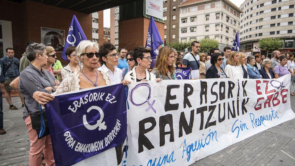 Foto: Concentración en 2016 en Barakaldo contra una agresión sexual. (EFE)
