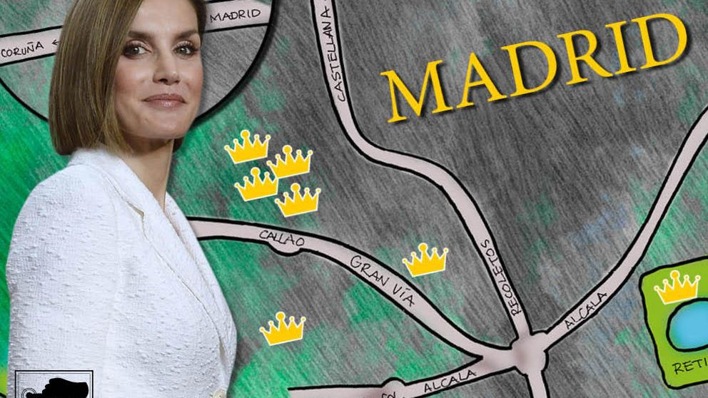 La Reina Letizia y su mapa de ocio por Madrid