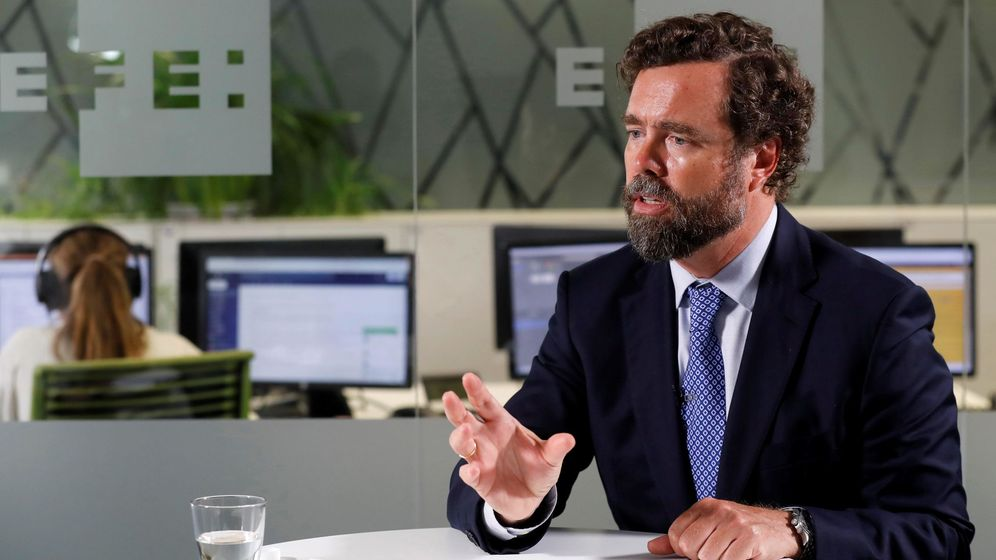 Foto: El portavoz de Vox en el Congreso, Iván Espinosa de los Monteros. (EFE)