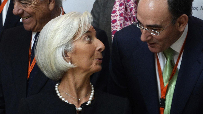 Christine Lagarde e Ignacio Galán. (EFE)