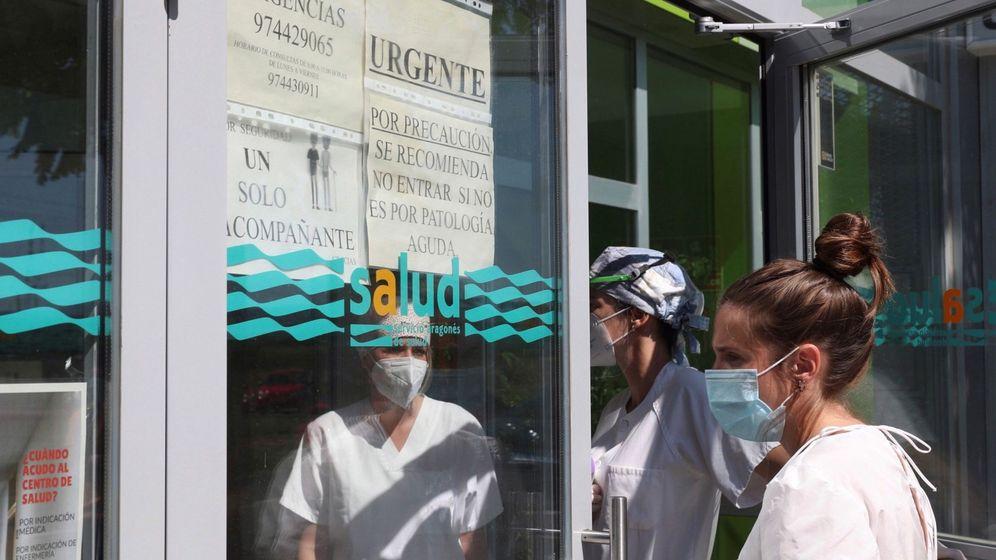 Foto: Acceso al Centro de Salid de Binéfar (Huesca). (EFE)