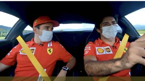 Carlos Sainz y Charles Leclerc, juntos en un  Ferrari amarillo: La F1 es muy extraña