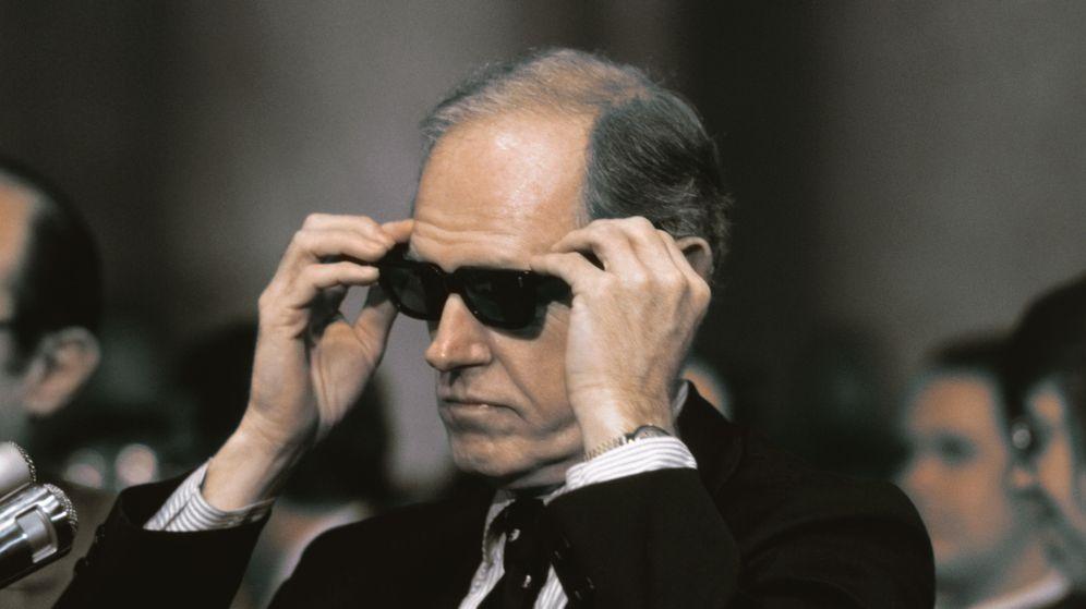 Foto: El agente de la CIA Howard Hunt durante el juicio por su participación en el escándalo del Watergate. (Corbis)