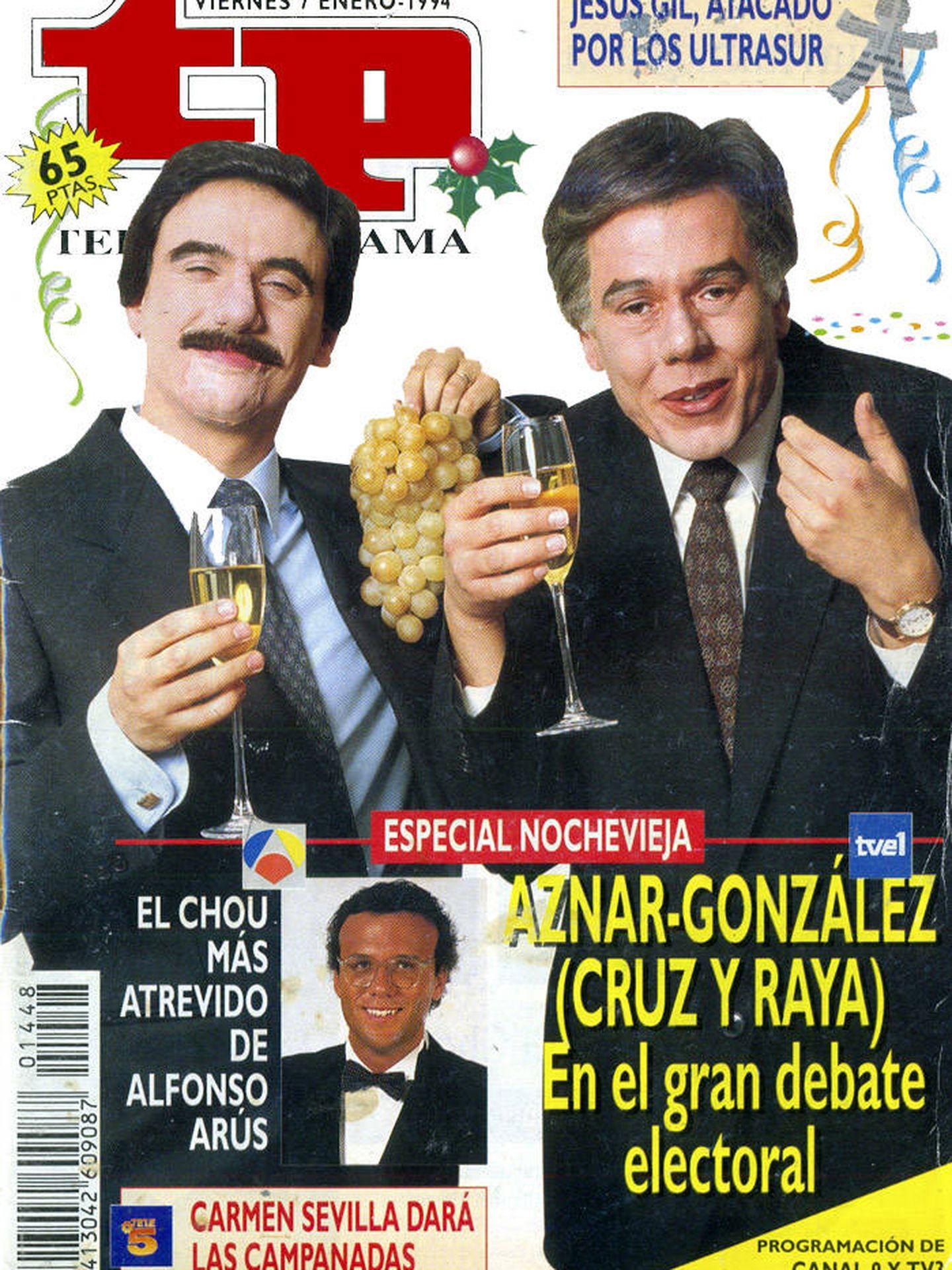 José Mota y Juan Muñoz fueron los protagonistas de la Nochevieja de 1993. (TP)