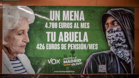 Fiscalía estudiará si Vox comete un delito de odio por el cartel contra los menas