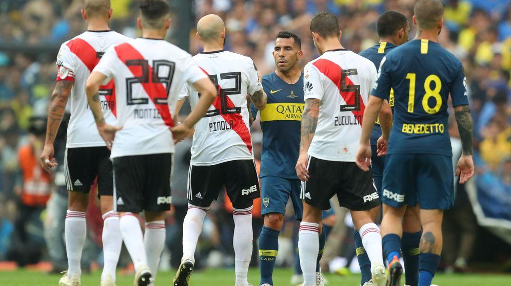 Foto: La final entre River Plate y Boca Juniors podría jugarse en el Santiago Bernabéu. (EFE)