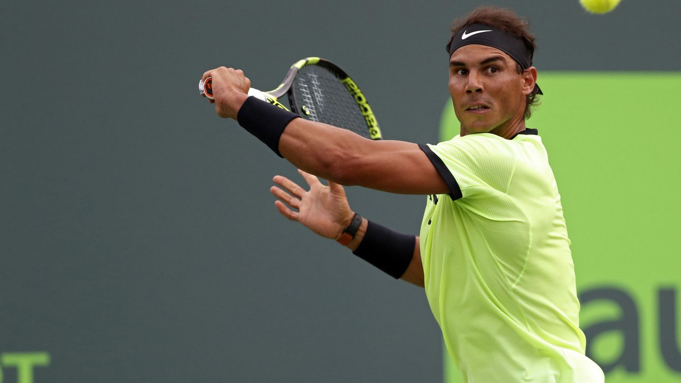 Nadal supera un inicio horrible y gana en Miami su partido 1000
