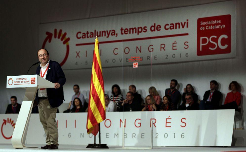Foto: El primer secretario del PSC, Miquel Iceta, durante la primera jornada del congreso de los socialistas catalanes, este 4 de noviembre. (EFE)