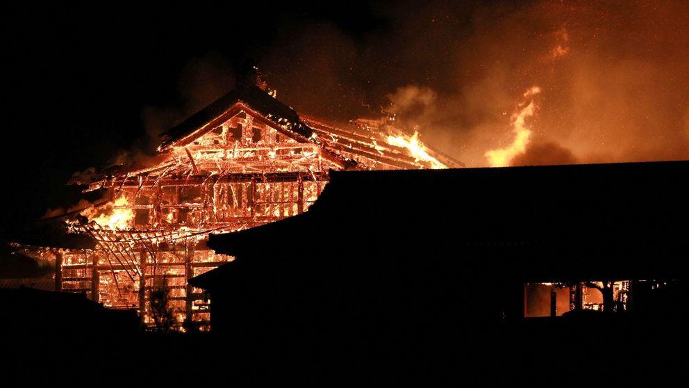 Arde el castillo japonés Shuri de Okinawa, declarado patrimonio de la humanidad