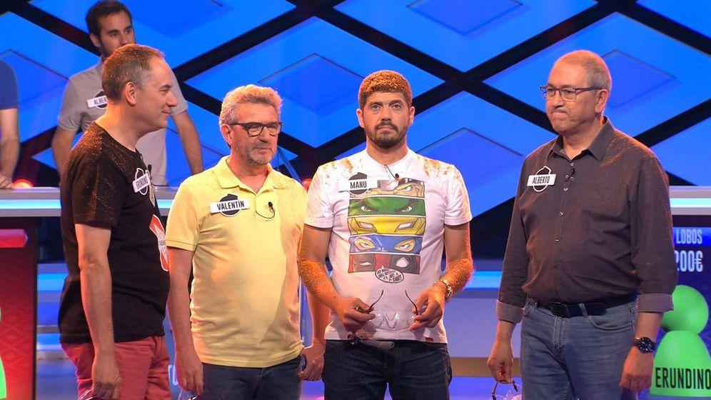 Foto: Erundino, Valentín, Manu y Alberto, en '¡Boom!'. (Atresmedia)