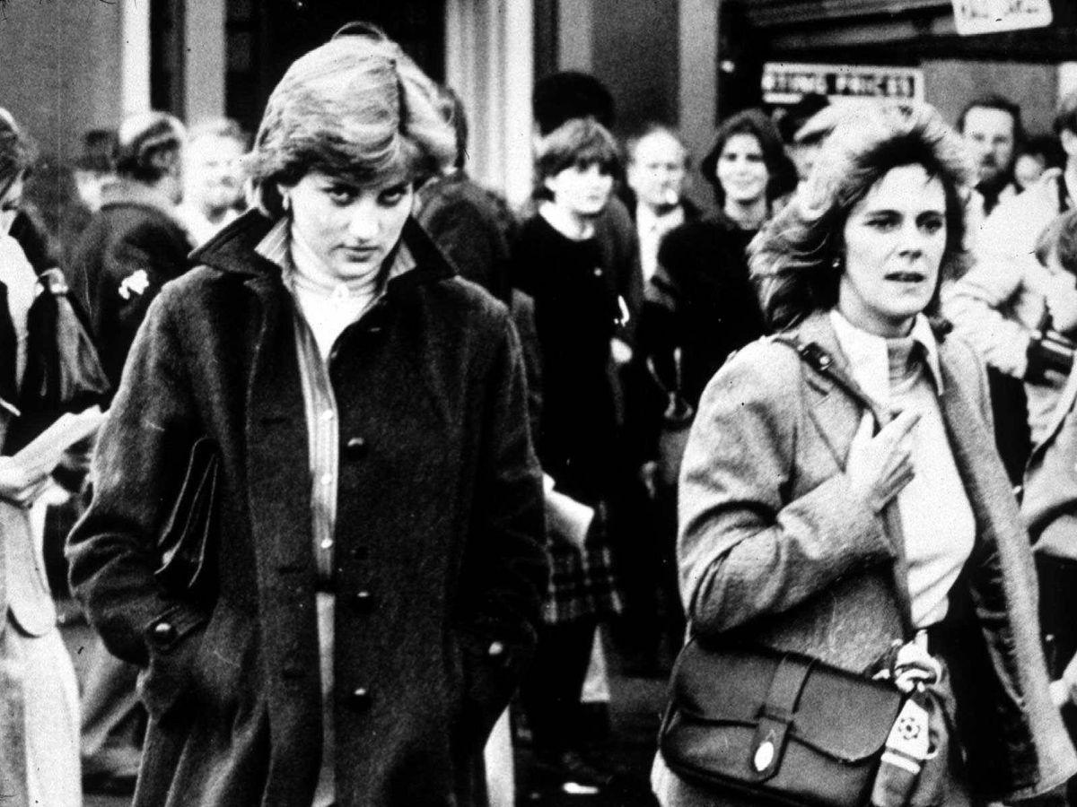 Foto: Diana y Camilla, en una imagen de jóvenes. (Getty)