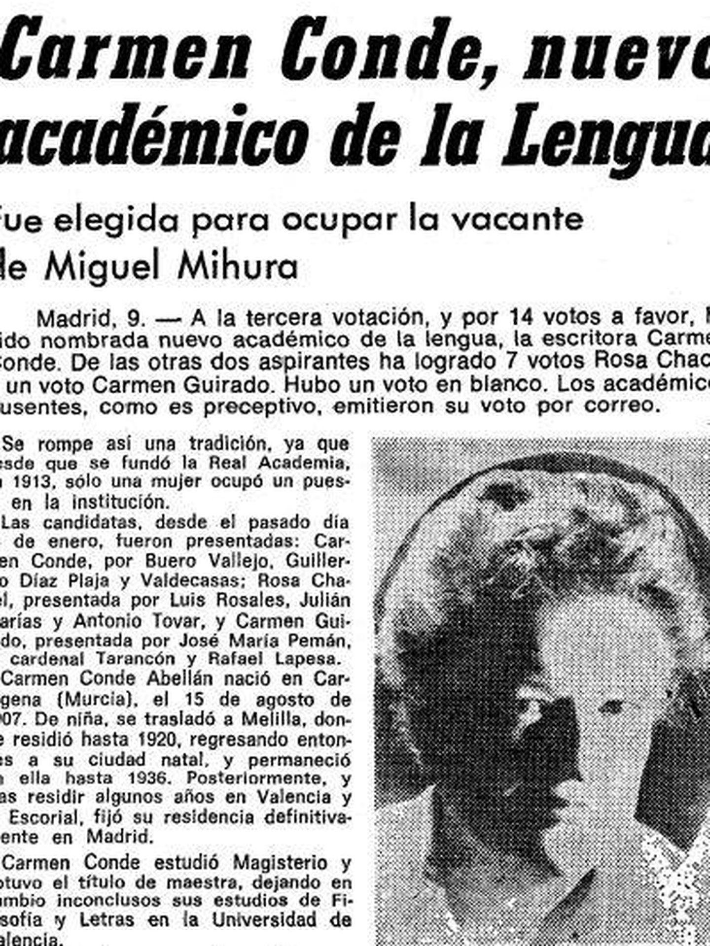 Recorte de la portada de 'La Vanguardia' del 10 de febrero de 1978