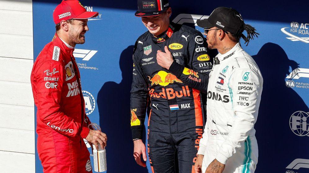 Foto: Max Verstappen logró la pole por delante de Vettel y Hamilton. (EFE)