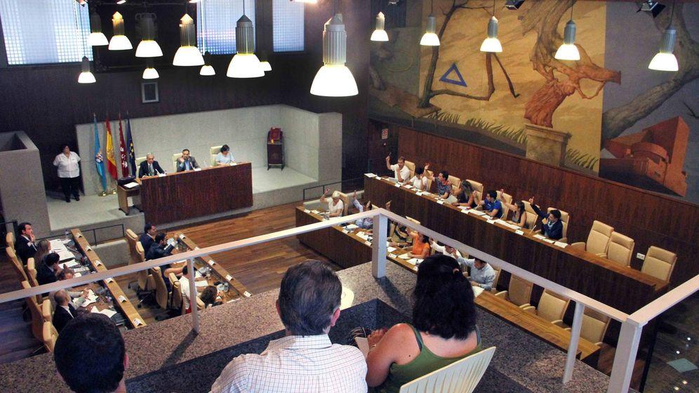 Foto: Una sesión del pleno municipal de Leganés.