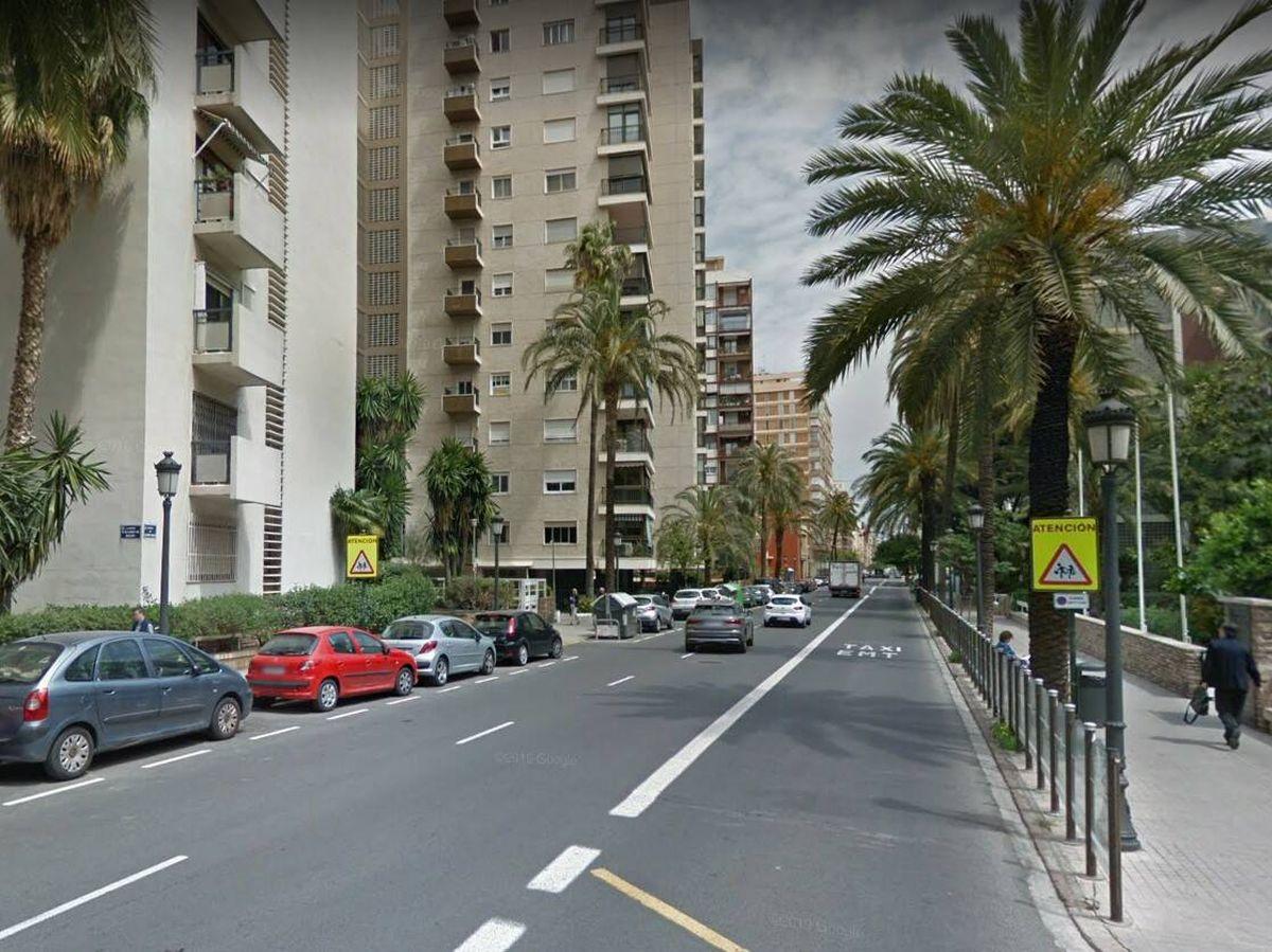Foto: Calle en el que se produjo la colisión. Foto: Google Maps