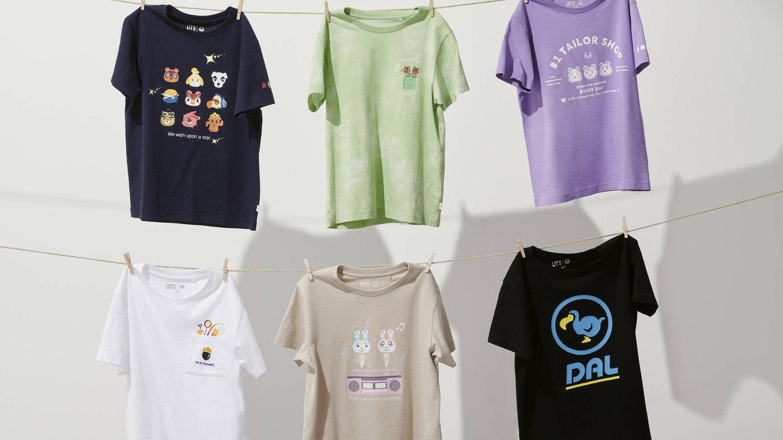 Camisetas de Uniqlo x Animal Crossing. (Cortesía)