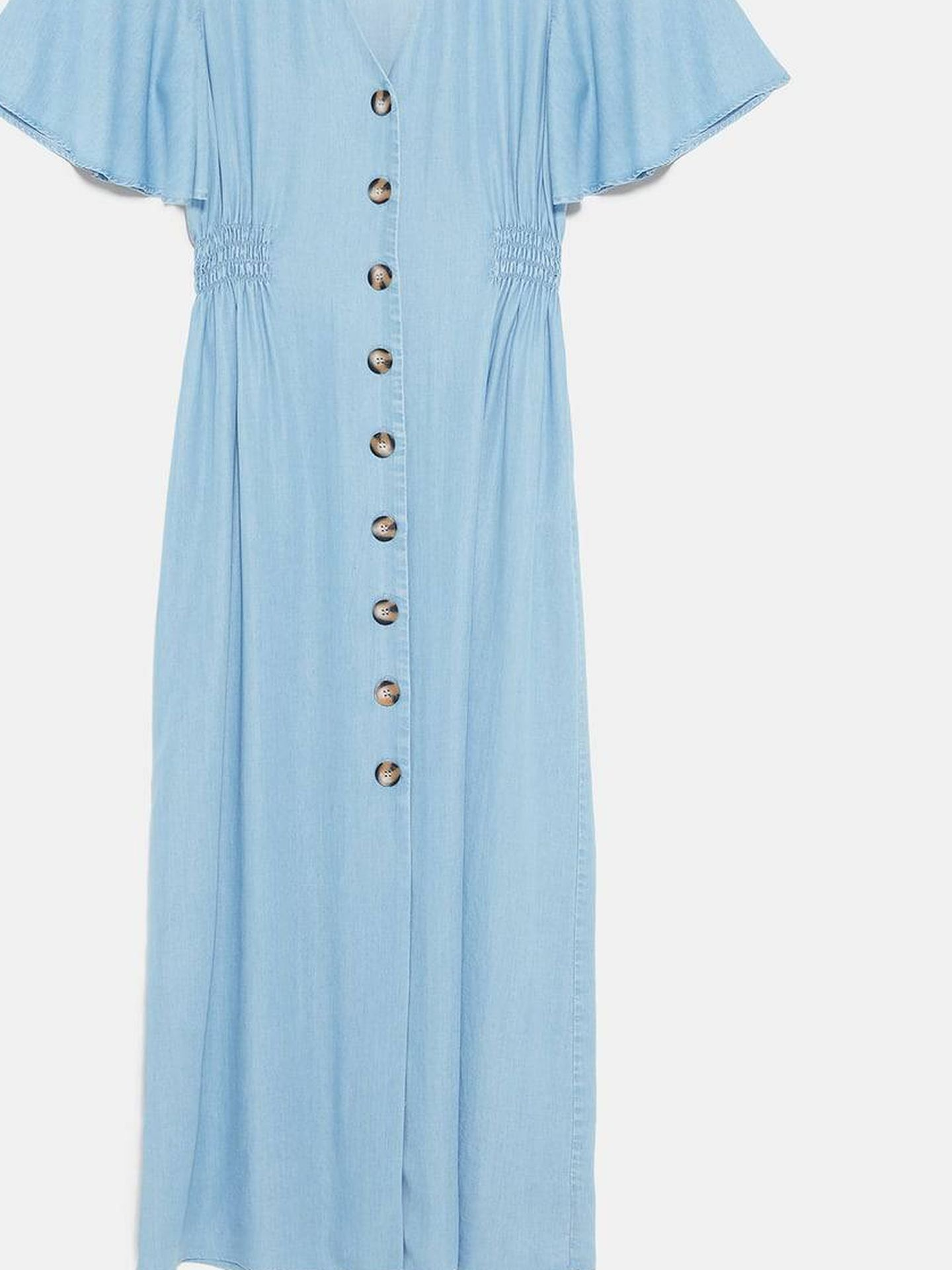 Silueta del vestido de Zara.