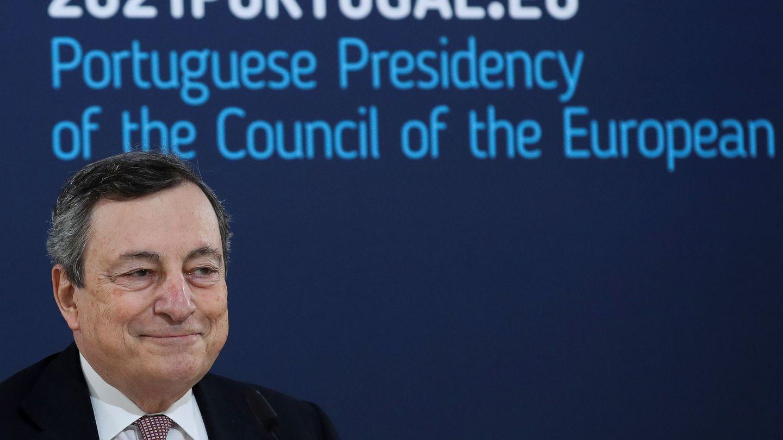 El primer ministro italiano, durante la cumbre de Oporto. (Reuters)