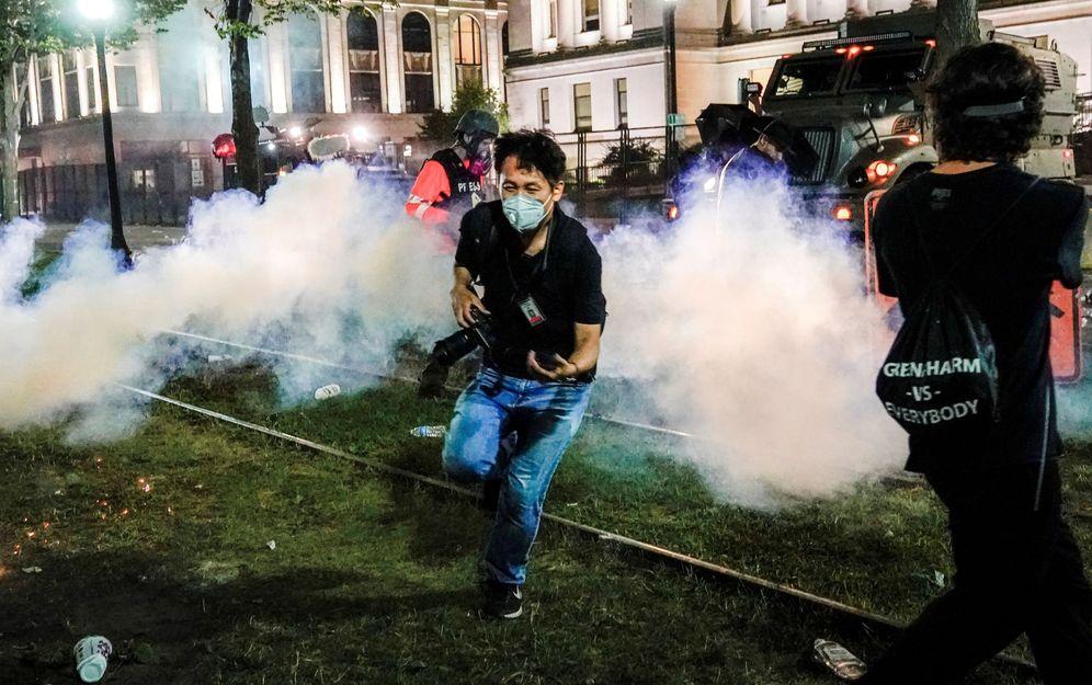 Foto: Disturbios en Wisconsin. (Tannen Maury/Efe)