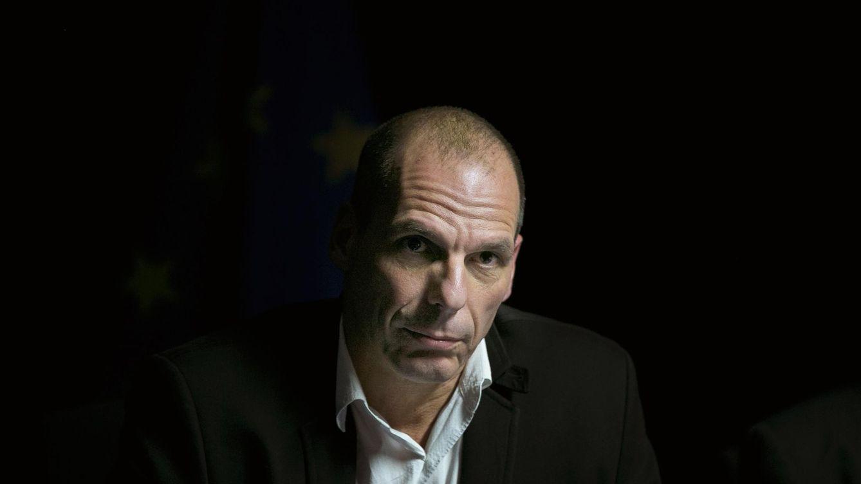 Foto: El ministro de Finanzas griego, Yanis Varufakis, durante la rueda de prensa del viernes