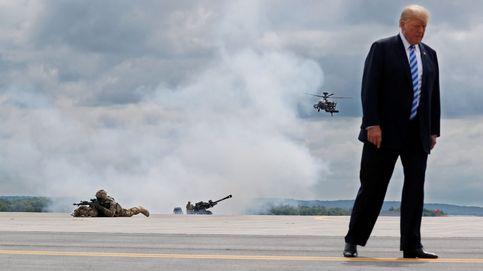 Trump visita a las tropas
