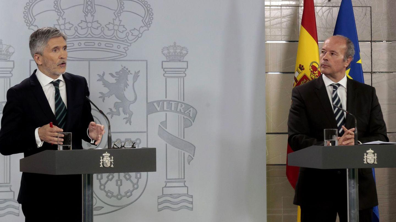 Fernando Grande-Marlaska y Juan Carlos Campo. EFE