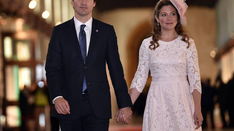 Foto: Justin Trudeau y Sophie Gregorie en una imagen de archivo