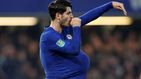 Dedicar un gol a su mujer embarazada le cuesta sanción a Morata