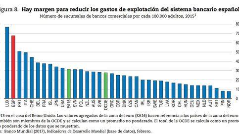 La OCDE insta a la banca española a seguir cerrando oficinas