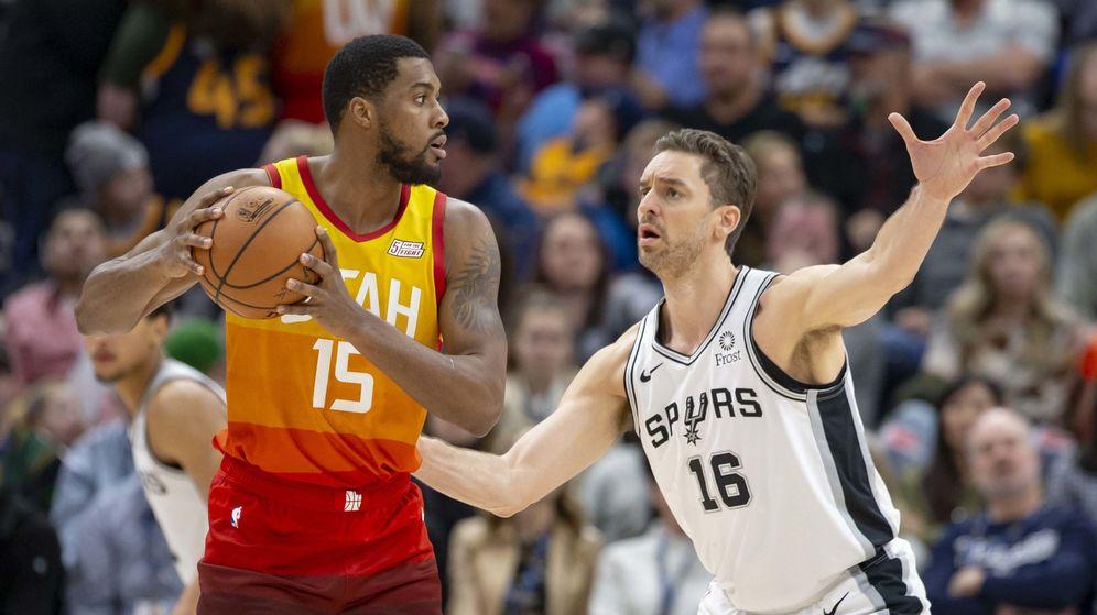 Foto: Pau Gasol jugó siete minutos en la derrota de los Spurs ante los Jazz. (USA Today Sports)