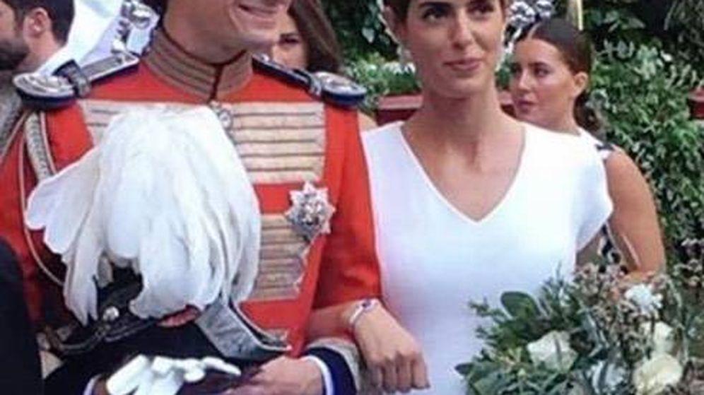 Foto:  Los recién casados. (Instagram)