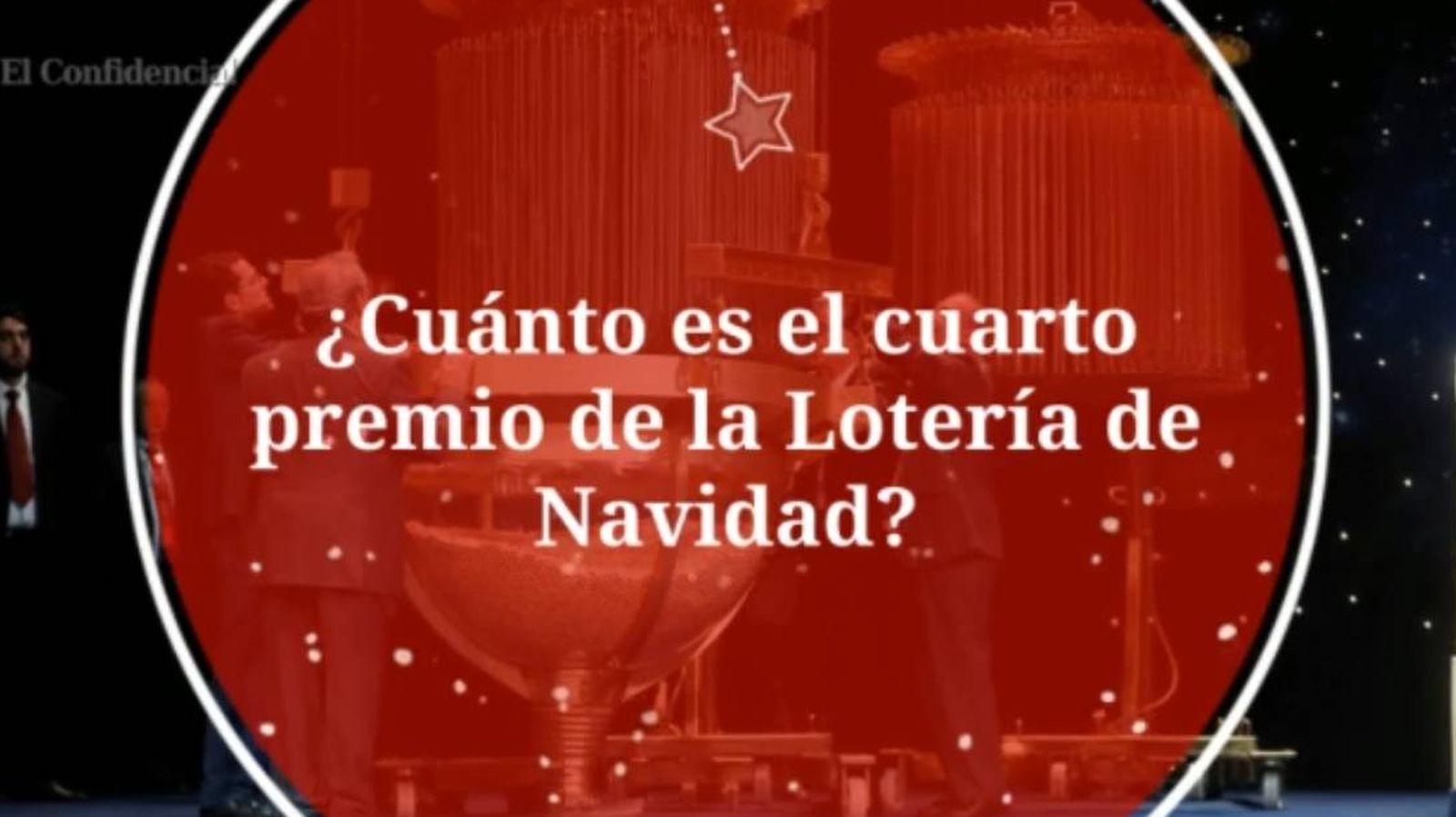 Cuarto premio de la Lotera de Navidad: cuanta y retenciones