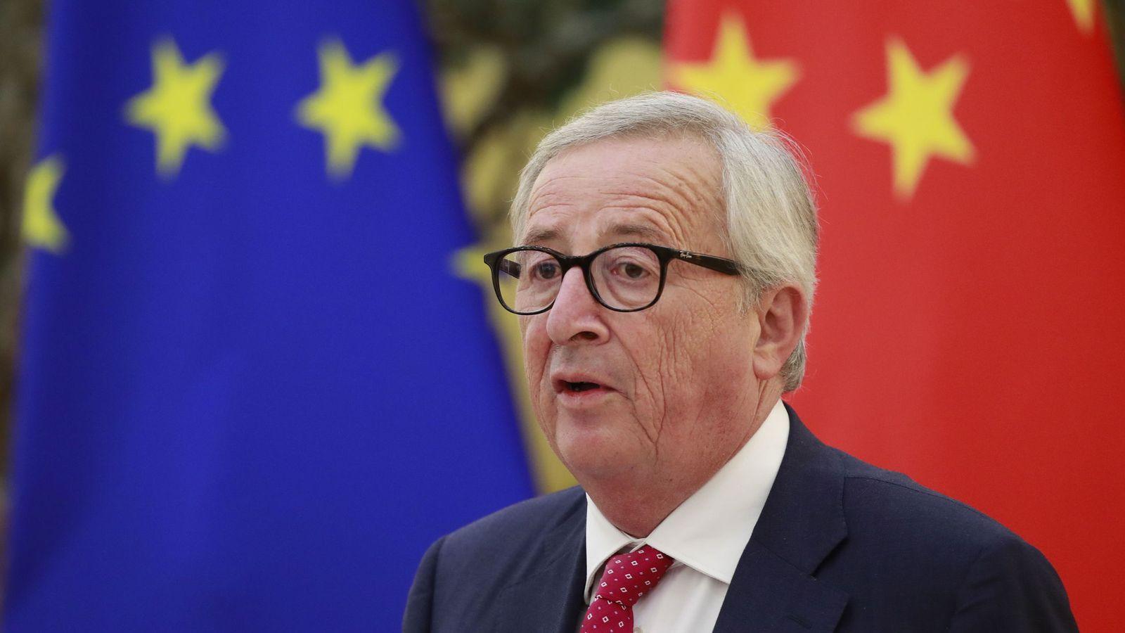 Foto: Juncker durante la última cumbre UE - China en Pekín (REUTERS)