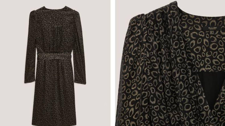 Vestido de Massimo Dutti perfecto para año nuevo. (Cortesía)