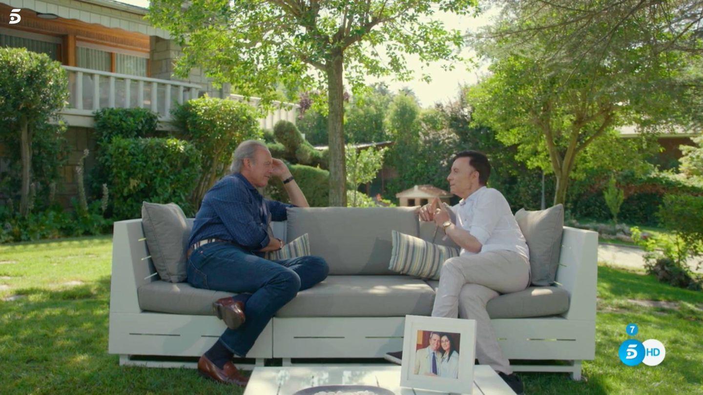 Bertín Osborne y José Ortega Cano, en 'Mi casa es la tuya'. (Telecinco)