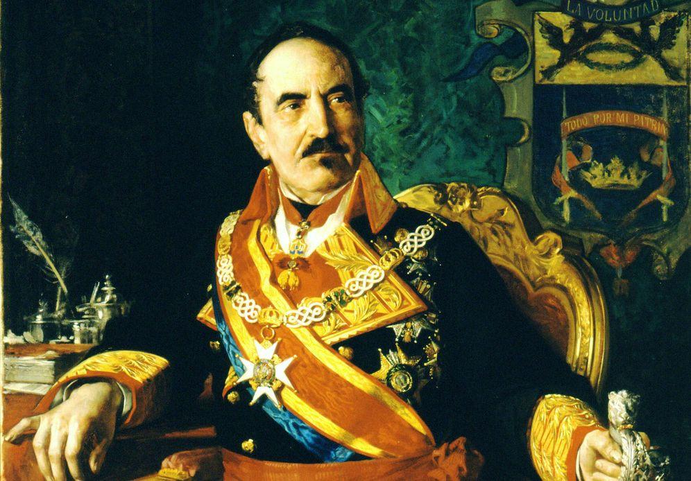 Foto: Retrato de Baldomero Espartero. (Casado de Alisal, 1872)