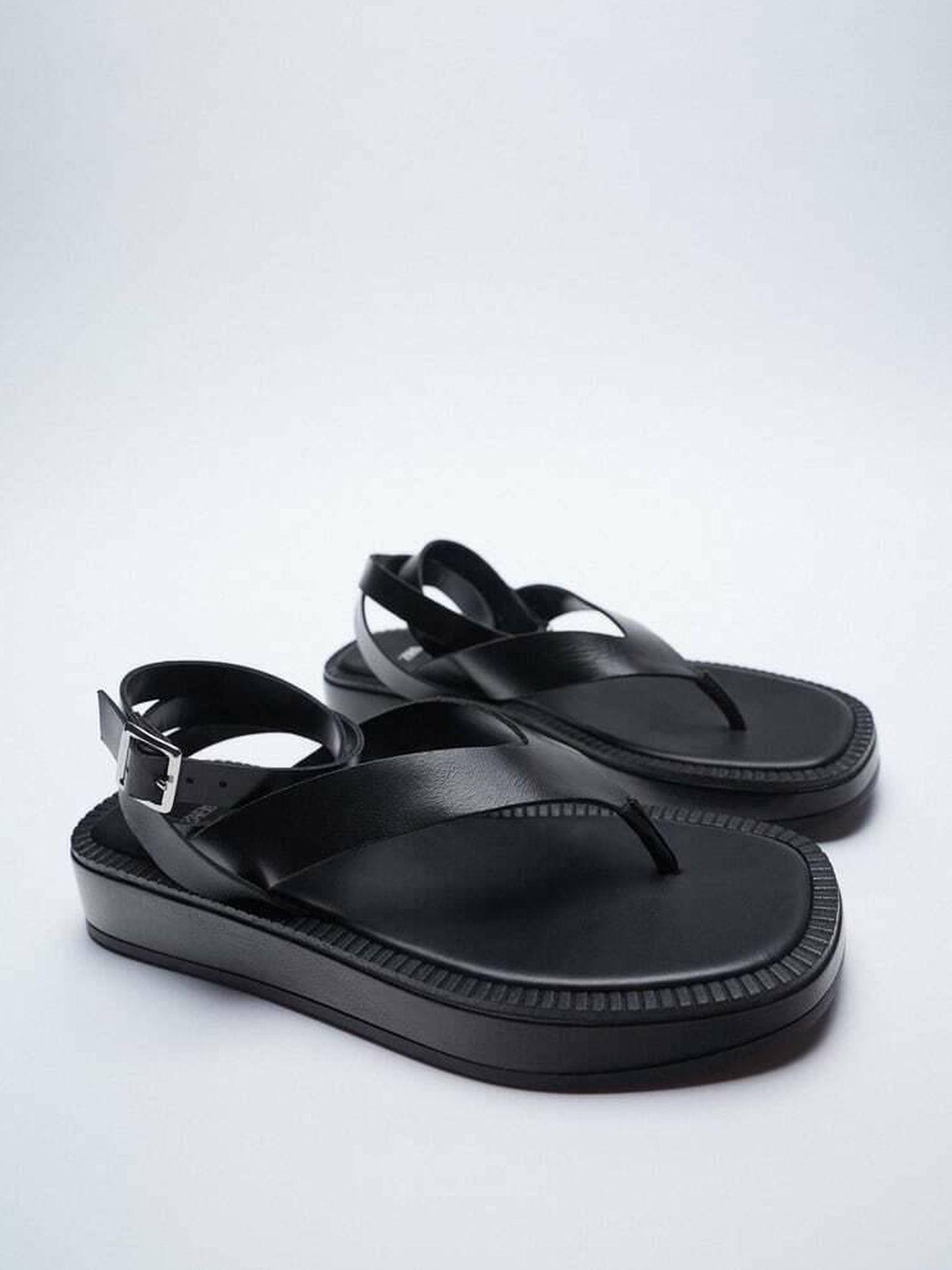 Las sandalias de Zara con lista de espera. (Cortesía)