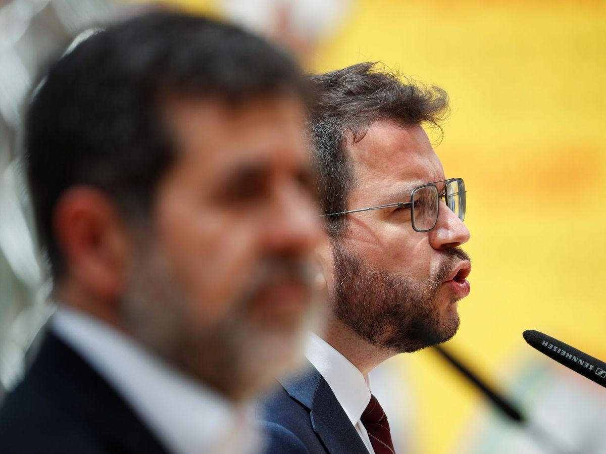 Foto: Pere Aragonès (d) y Jordi Sànchez. (Reuters)