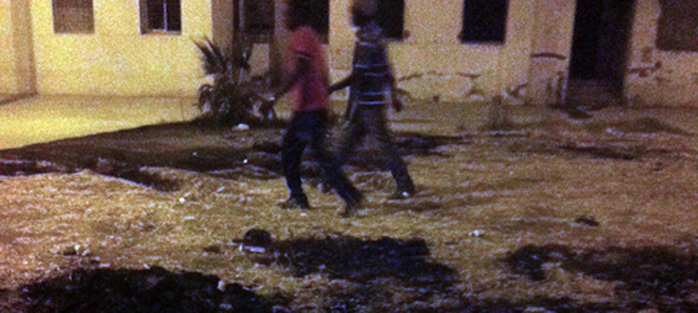 Foto: Imágenes tomadas durante los altercados, en las inmediaciones de Tánger. (Elena González)