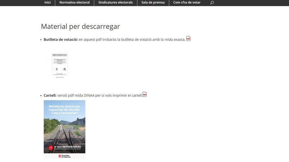 La página web del referéndum ya permite imprimir la papeleta para votar el 1-O