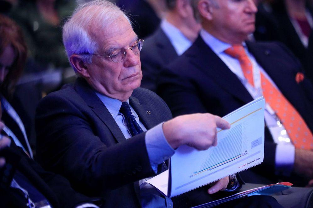 Foto: El ministro de Exteriores, Josep Borrell, en la inauguración de la XIX Edición del Foro Iberoamérica, este 9 de noviembre en Madrid. (EFE)