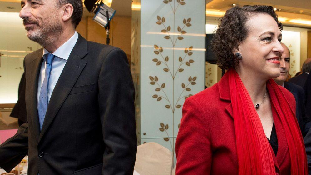 Foto: Manuel Marchena y la ministra Magdalena Valerio. (EFE)