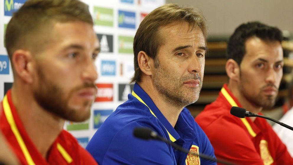 Sergio Ramos, la constante que une los debuts de Del Bosque y Lopetegui