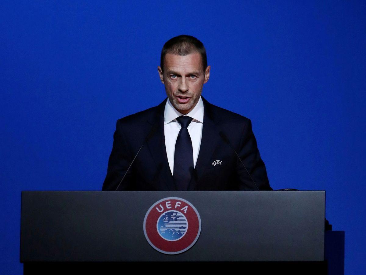Foto: El presidente de la UEFA, Aleksander Ceferin. (Reuters)